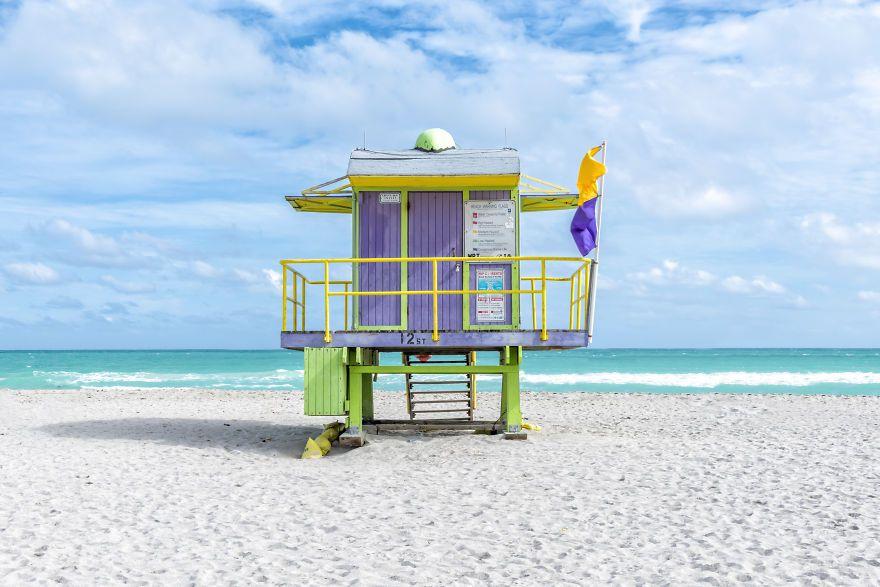 No Liuard On Duty Colorful Cabins I Found In Miami