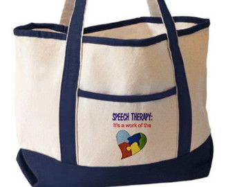 Embroidered Tote Bag Sch Therapy