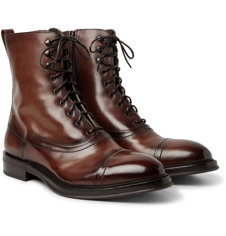 0a13027e8d1 Berluti Shearling-Lined Polished-Leather Boots | pantofi | Mens ...