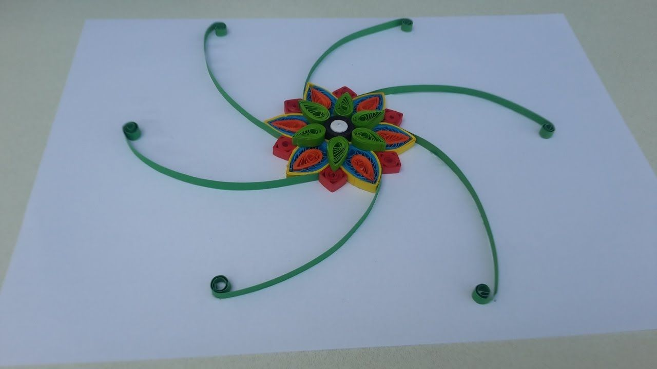 How To Make Paper Quilling Flower Wall Hanging Frame Quilling Ideas