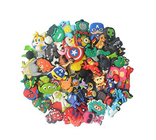 604102cb7f8d4 Lot of 50 PVC Different Shoe Charms for Croc  amp  Jibbitz Bands Bracelet  Wristband For. Read it