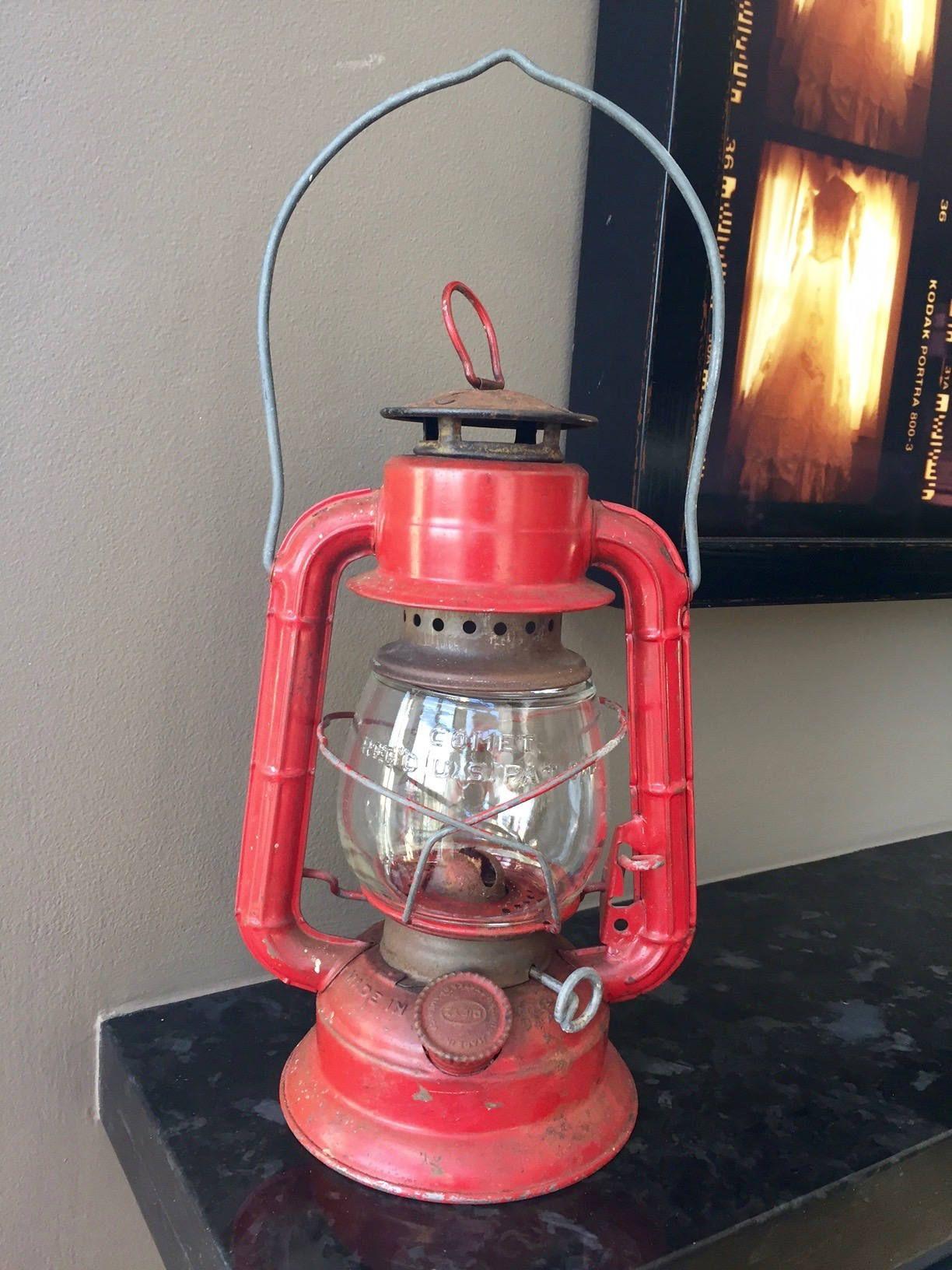 Vintage Dietz Comet Lantern Red, Lantern Made In United States,
