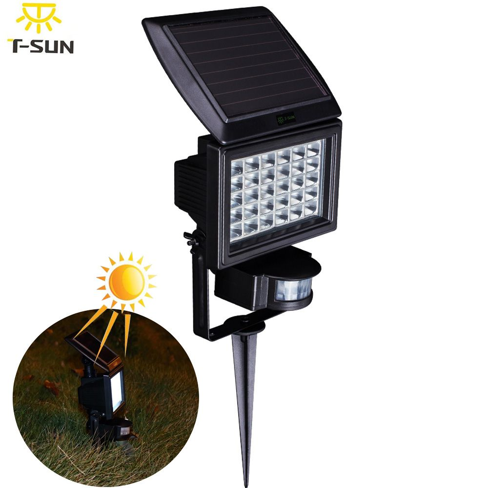 Pir 30 Outdoor Lighting Solar Lamp Led Spotlight Waterproof Wireless Powered Wall Light Motion Sensor Garden Le Led Flood Lights Outdoor Solar Lights Led Flood