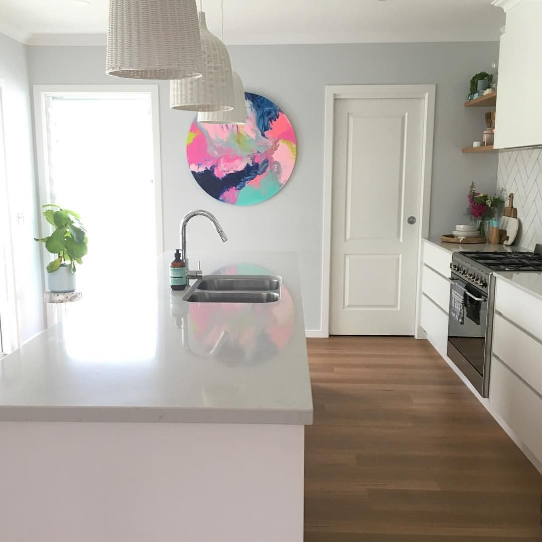 White kitchen Styling and design by