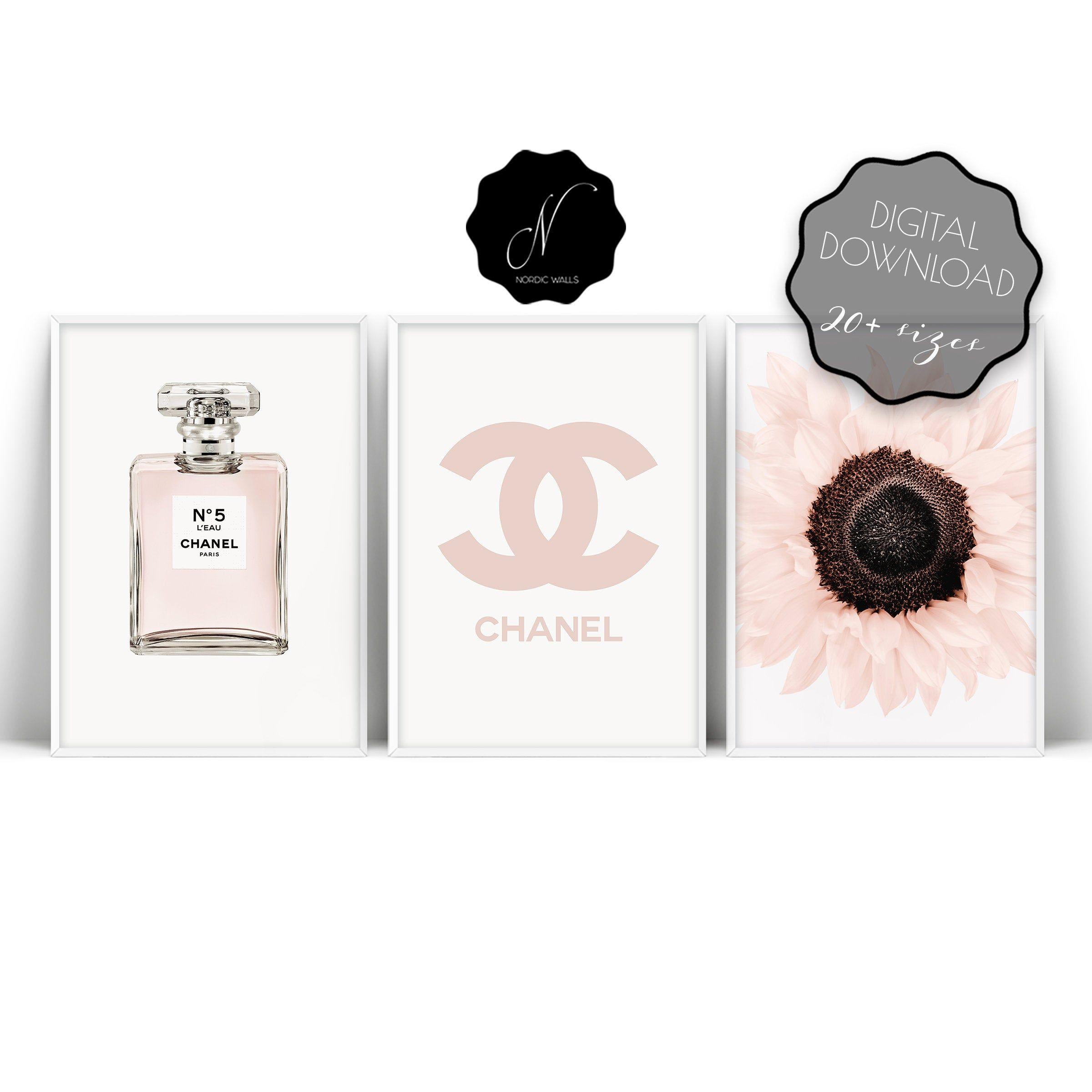 Coco Chanel Art Fashion Print Coco Chanel Wall Art Chanel No 5 Print Chanel Perfume Printable Wall Art Chanel Wal Chanel Wall Art Chanel Art Wall Art Sets