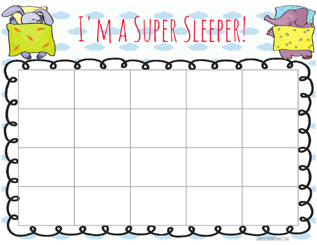 Bedtime Reward Chart when a Child Wont Stay in Bed – Printable T Chart