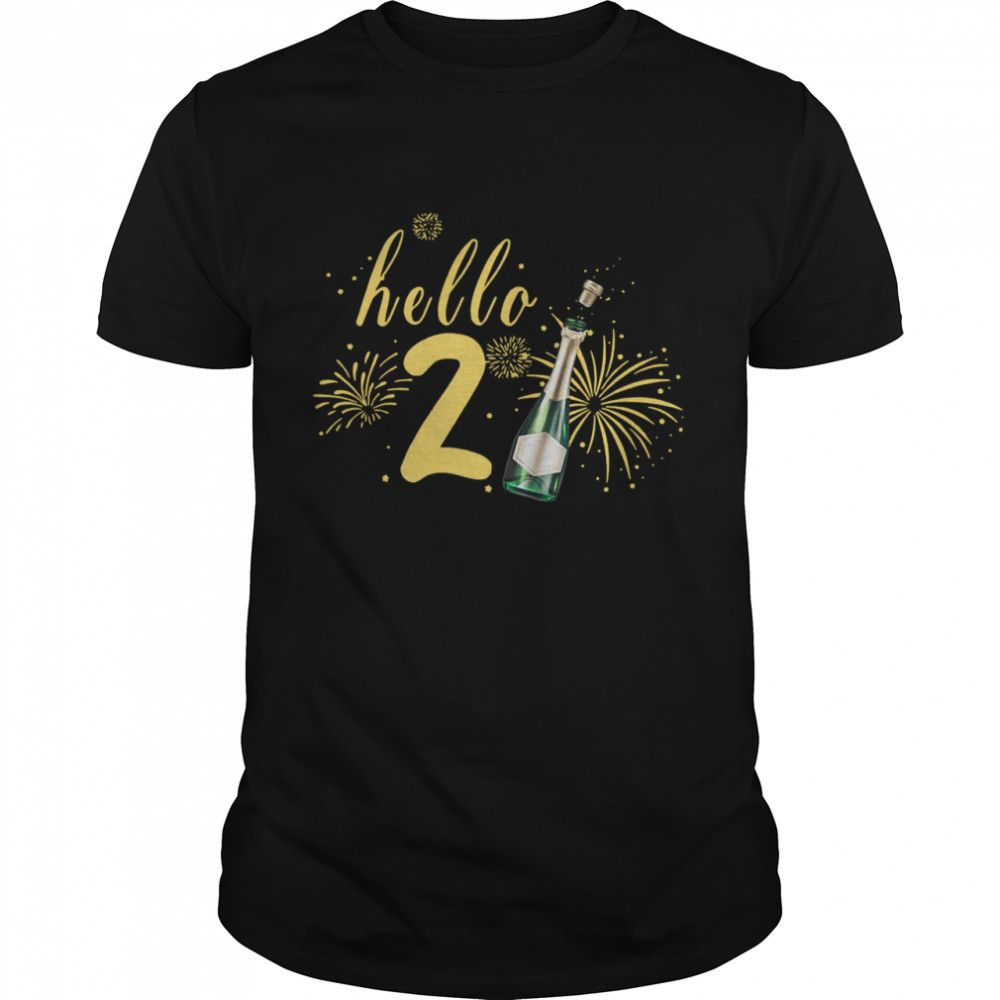 Hello 2021 Champagne Bottle Fireworks New Years Party Shirts In 2021 Party Shirts Mens Tops New Years Party
