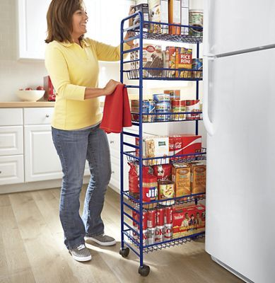 Metal Thinman Pantry Rolling pantry, Kitchen storage