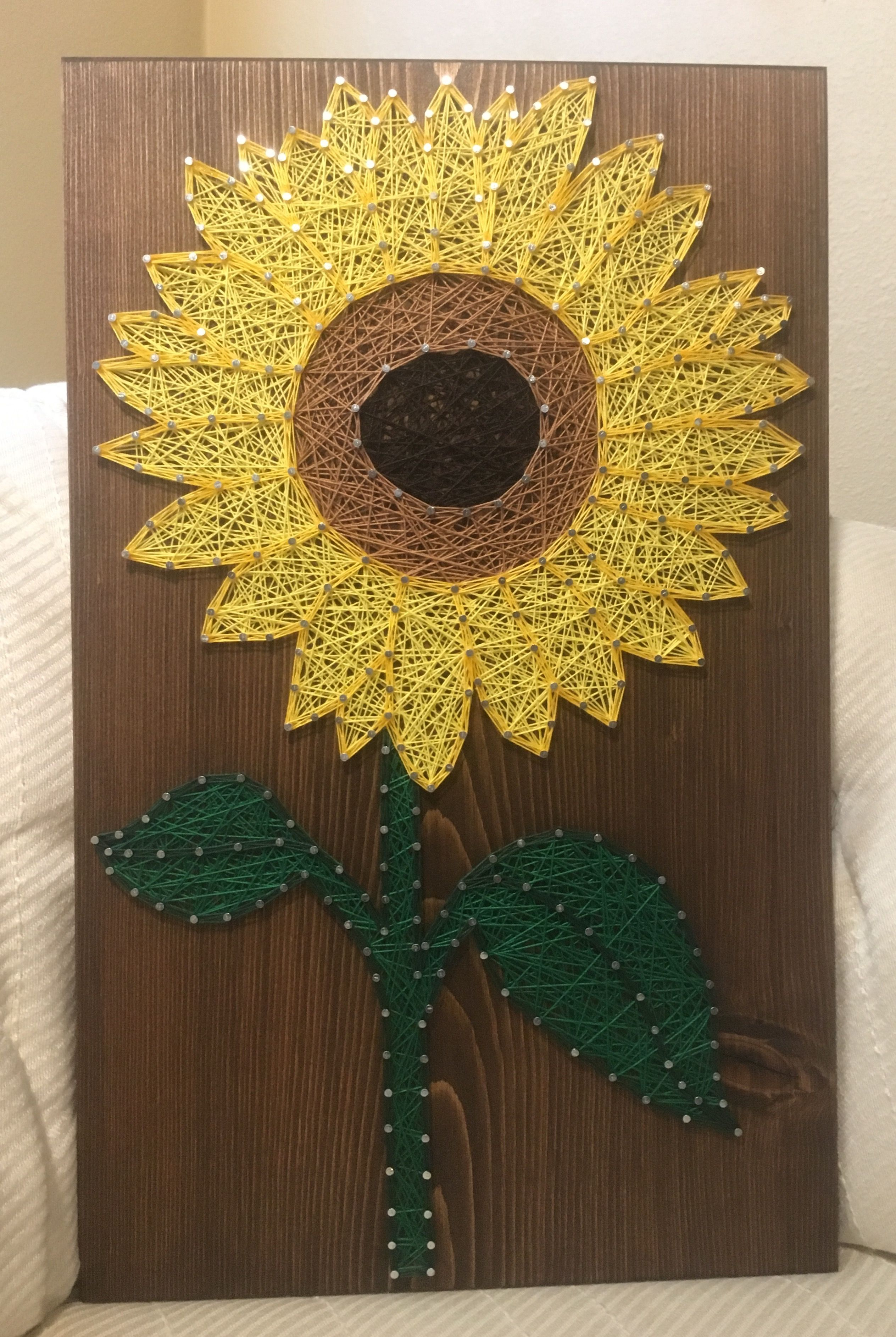 CUSTOM Sunflower String Art Sign, sunflower wall art, Flower Decor ...
