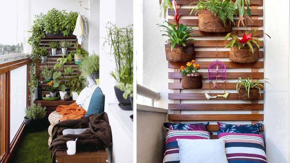 comment am nager un balcon troit m6 home gardening how to be self sufficient pinterest. Black Bedroom Furniture Sets. Home Design Ideas
