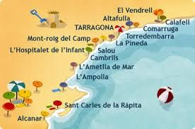 Mapa Geografico Costa Dorada Costa Dorada Destinos Familiares