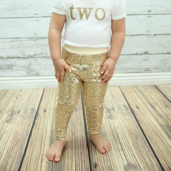 f0315345f4805 gold baby leggings gold sparkle pants gold girls by PoshPeanutKids ...