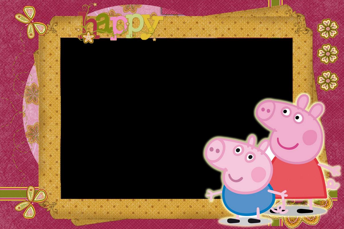 Фоторамки для фотосессии свинка пеппа