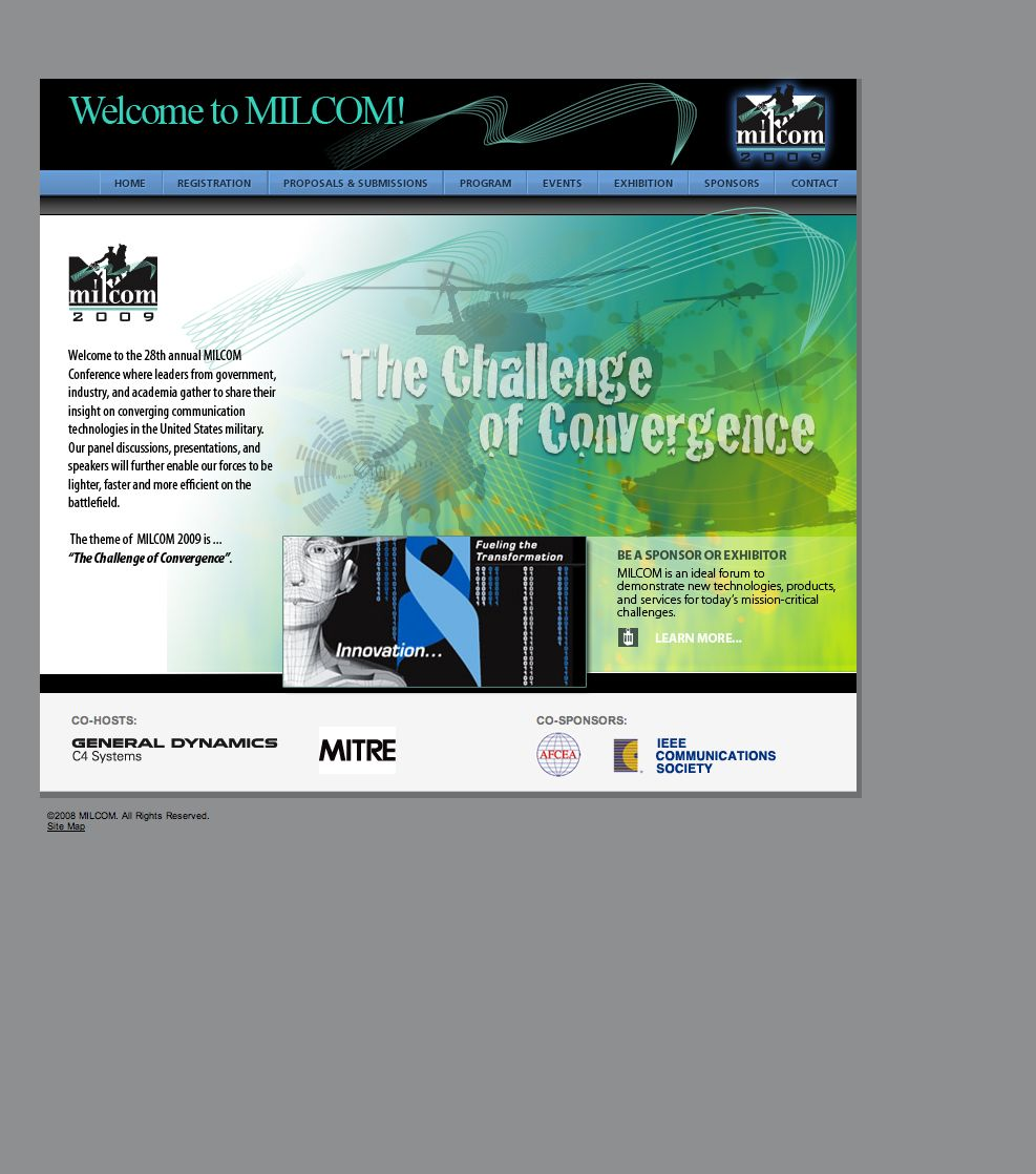 Conference event web concept and alternate design