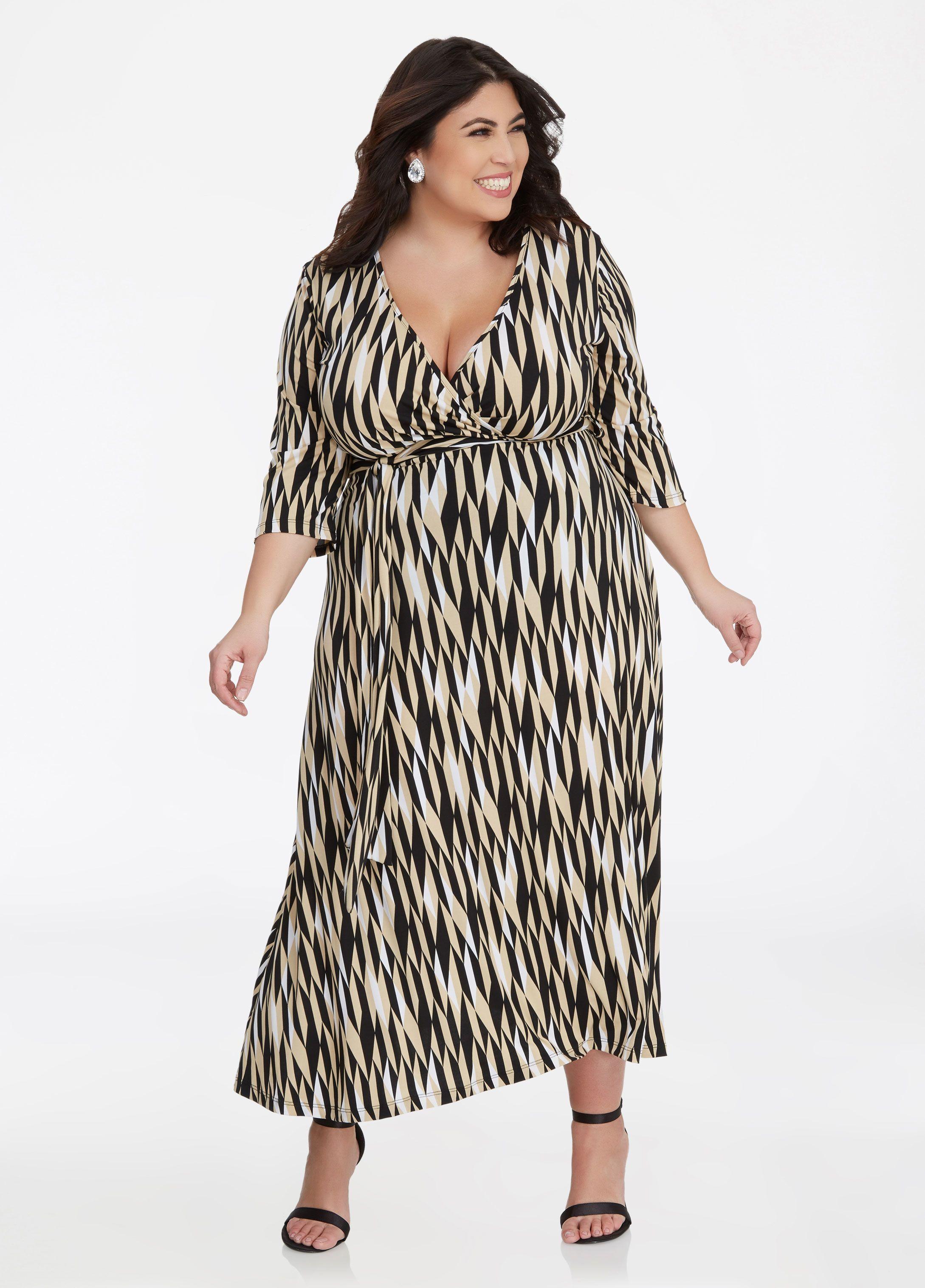 45264662c39b Geo Print Sash Belt Maxi Dress in 2019 | Jessica Milagros | Dresses ...