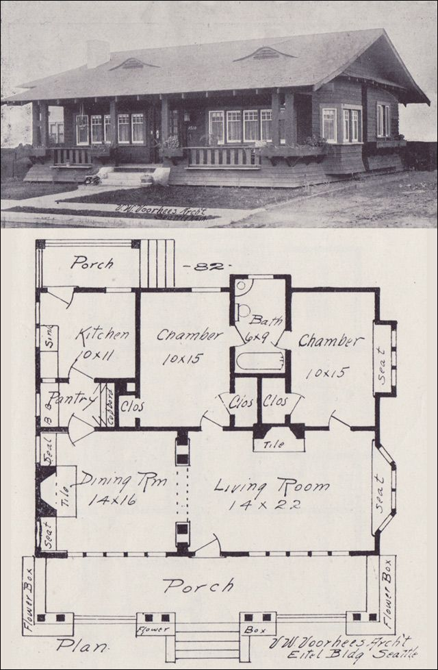 Excellent 1908 Western Home Builder No 82 Vintage House Plans Download Free Architecture Designs Grimeyleaguecom