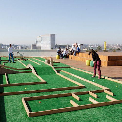 Play Mini Golf On The Roof Of Walmart S Wacky Brazil Hq Crazy Golf Golf Courses Mini Golf
