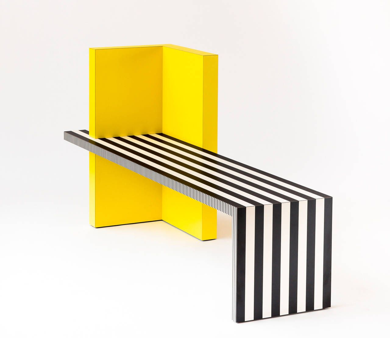 Contemporary Furniture Memphis: Memphis Inspired Bench, Neo Laminati Collection