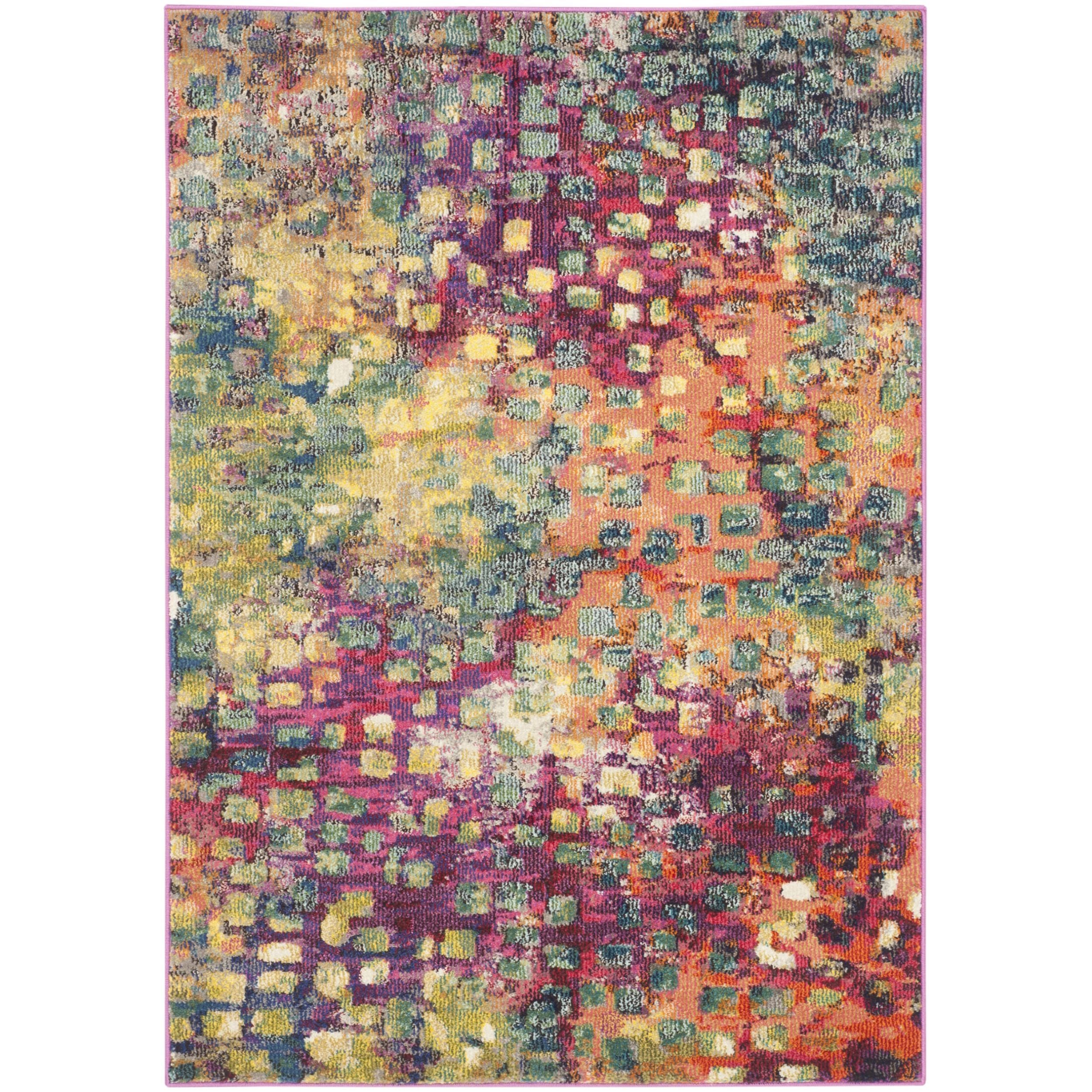 Safavieh Monaco Pink/ Multi Rug (4' x 5'7) - Overstock Shopping - Great Deals on Safavieh 3x5 - 4x6 Rugs