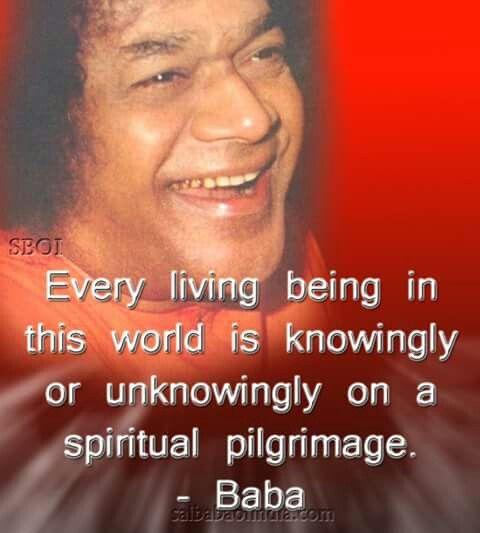 The first pilgrimage to Sathya Sai Baba