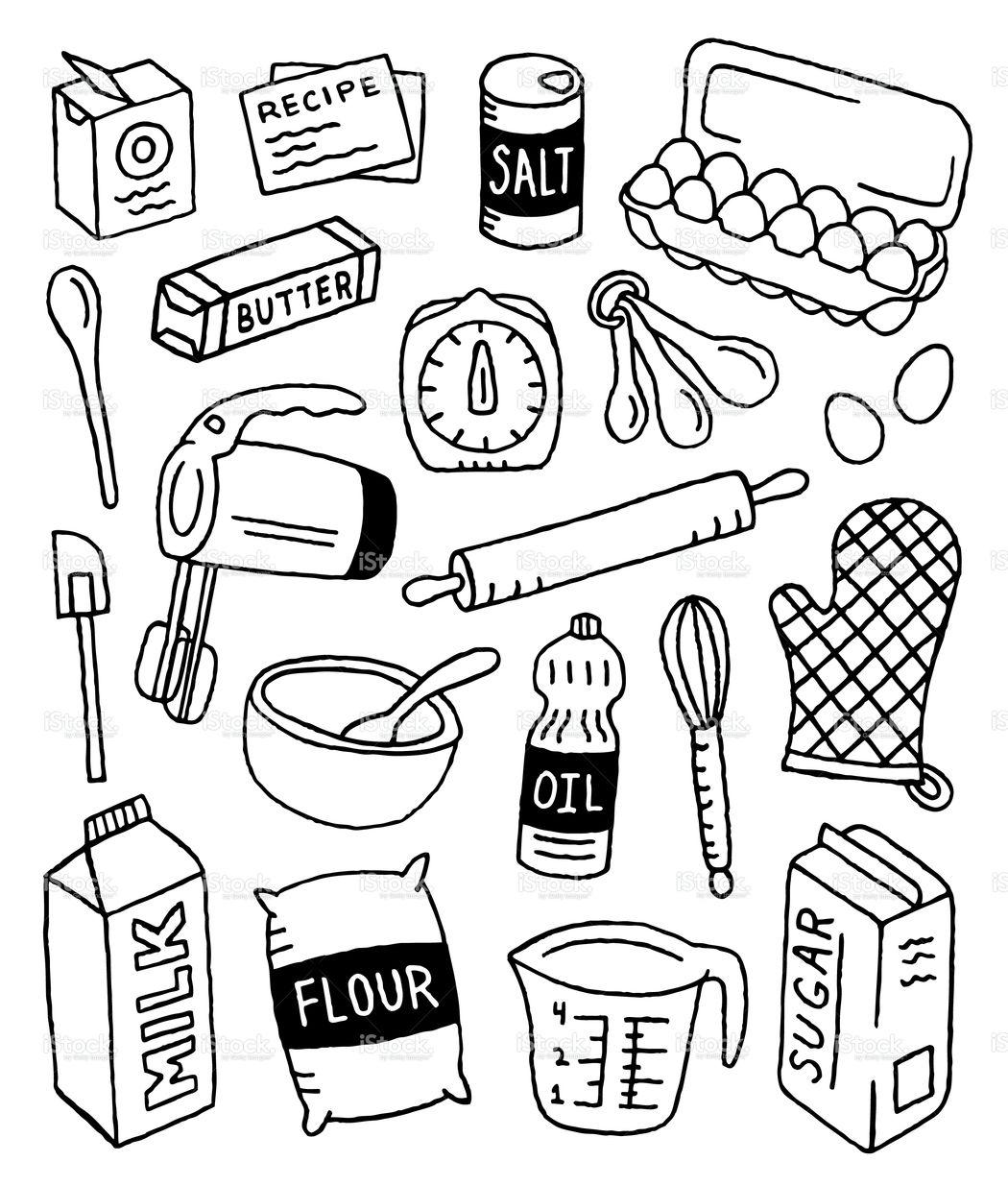 A bakingthemed doodle page. Doodle pages, Doodles