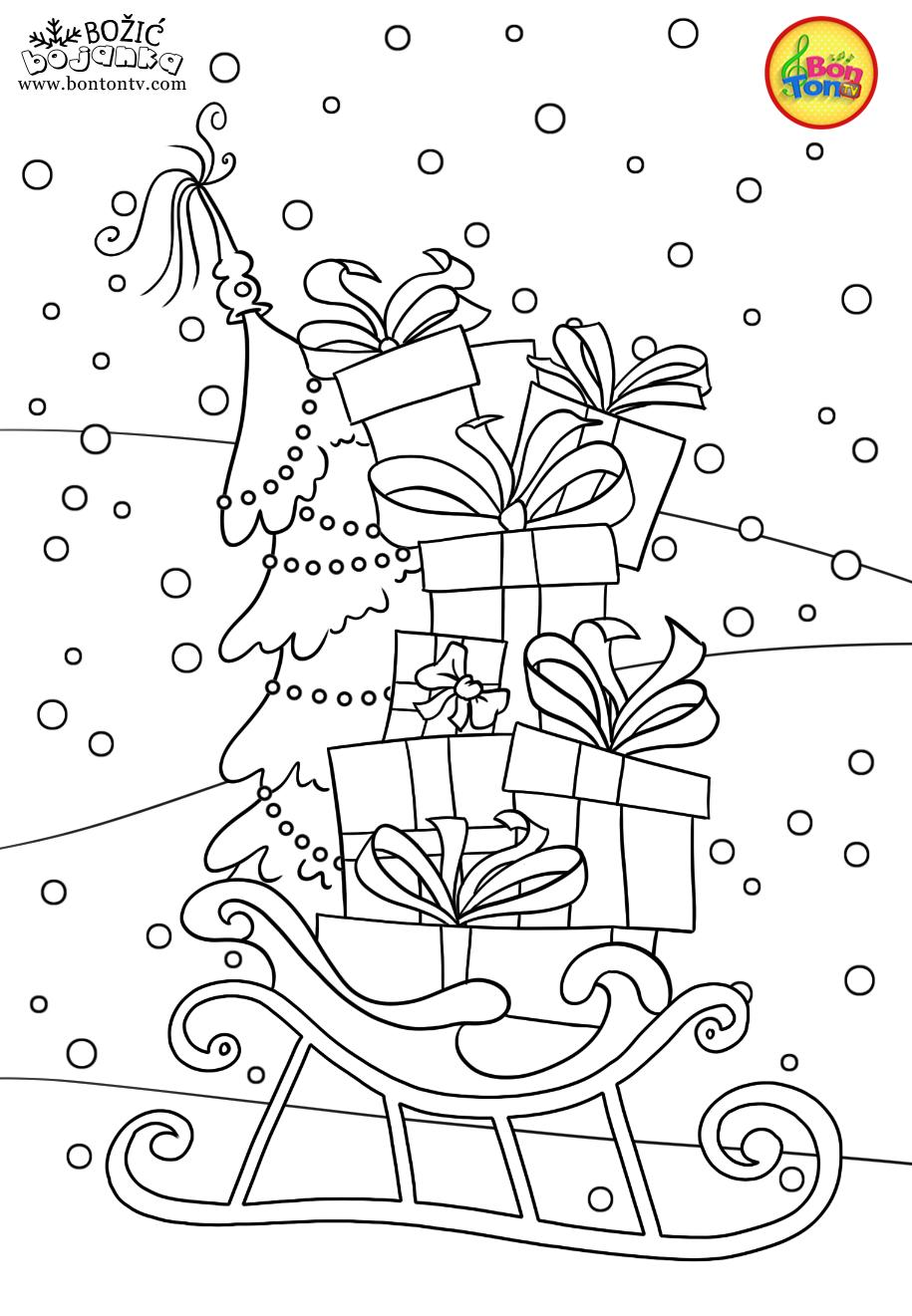 Christmas Coloring Pages   Božić bojanke za djecu   Free ...