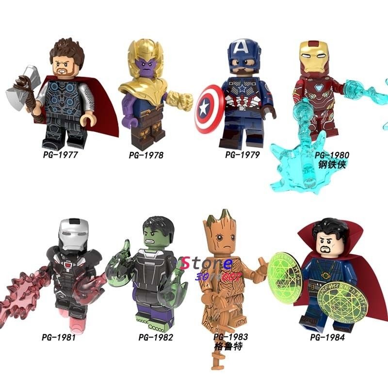 Marvel Avengers Endgame Building Blocks Iron Man Captain America Thanos Hulk New