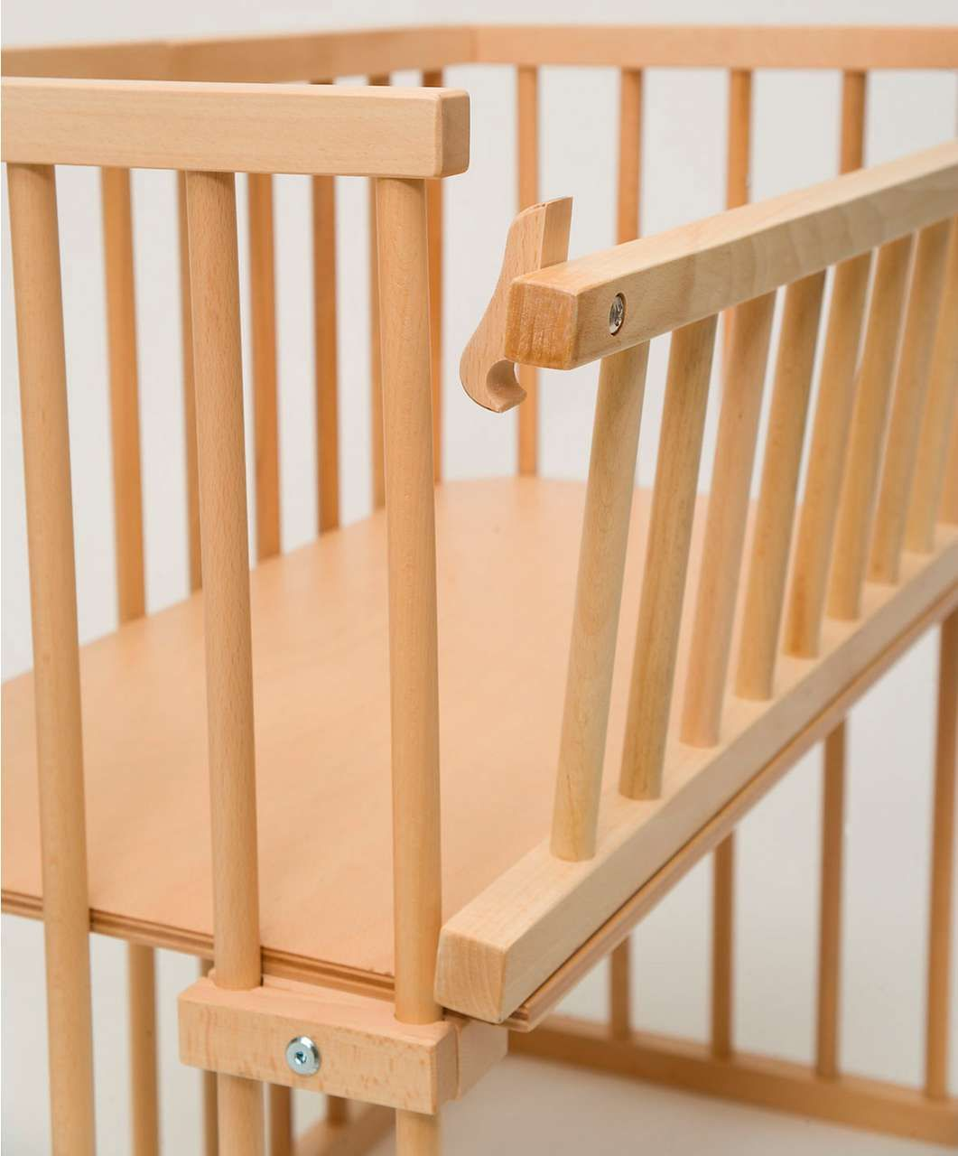 Wooden #bedside cot variable #height #nursery furniture baby crib ...