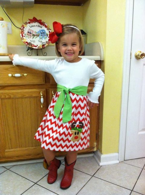 Girl/'s Toddlers Skirt and Shirt Christmas Outfit Red Polka Dot Skirt with Reindeer Applique Shirt