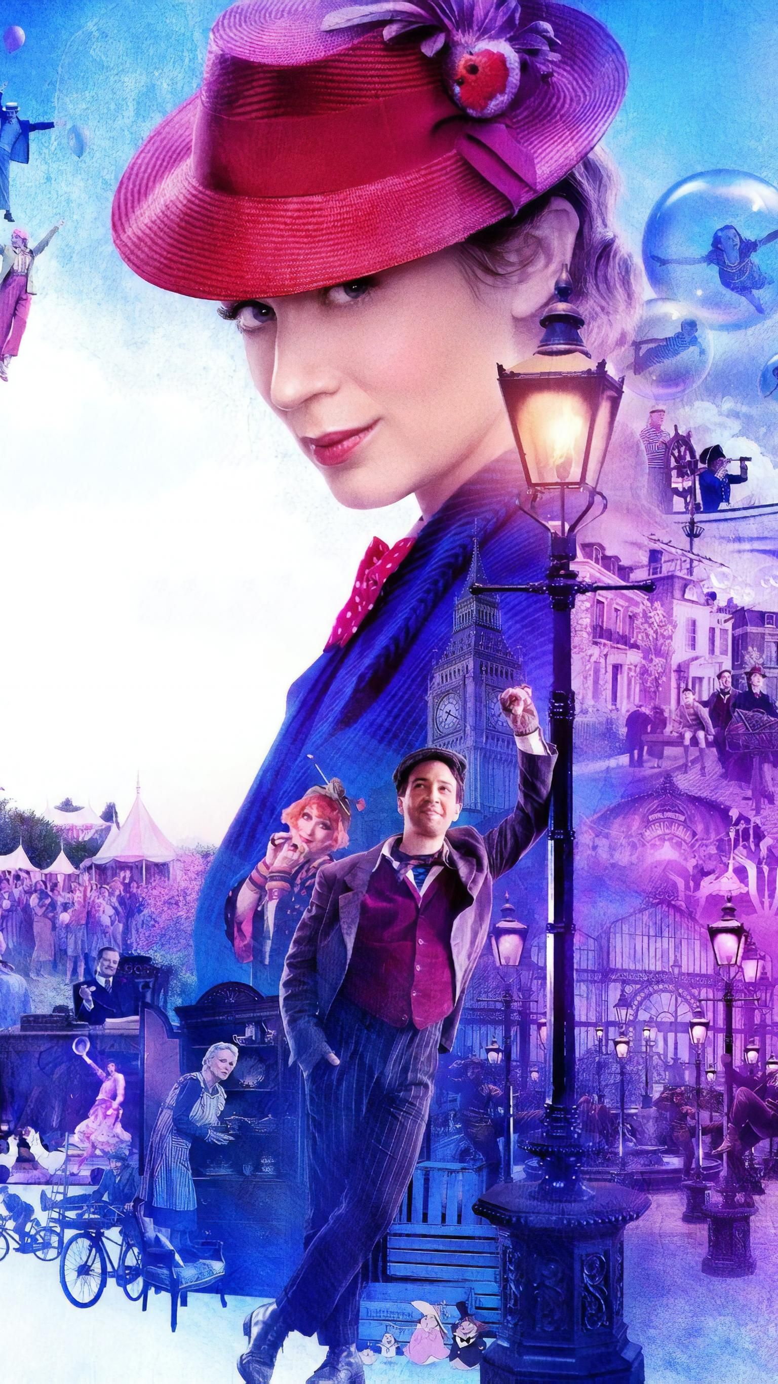 Mary Poppins Returns 2018 Phone Wallpaper Watch Mary Poppins