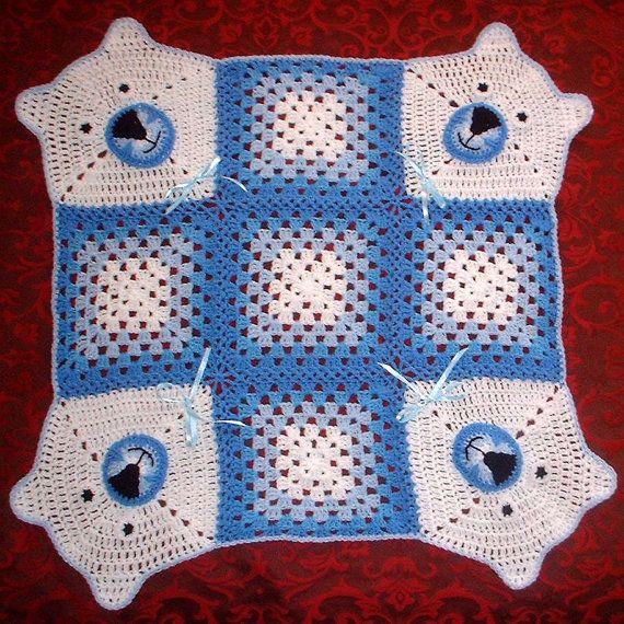 Ganchillo manta oso manta del bebé del por NPhandmadeCreations ...
