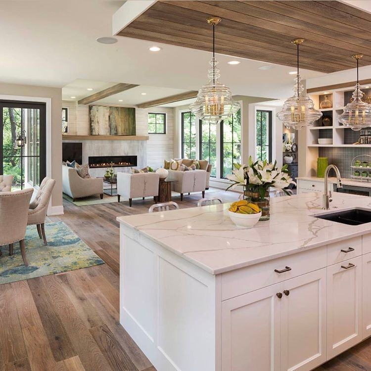 Pin by Gill Q on Einrichtung in 2020 | Open plan kitchen ...