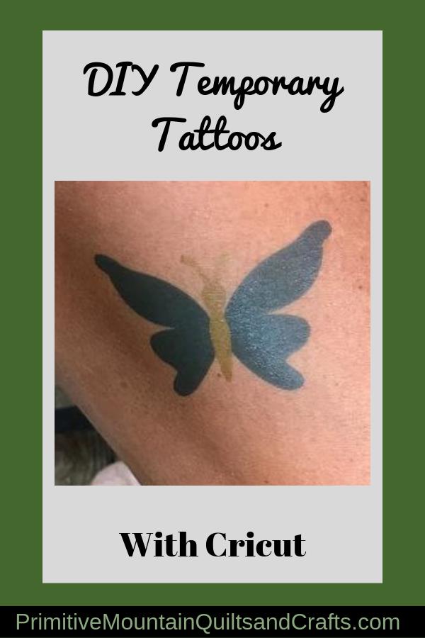 DIY Temporary Tattoos with Cricut Make temporary tattoo