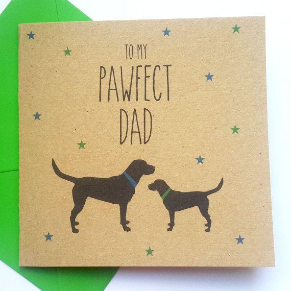 Dog Fathers Day Card Black Labrador To My Pawfect By JayneyMac