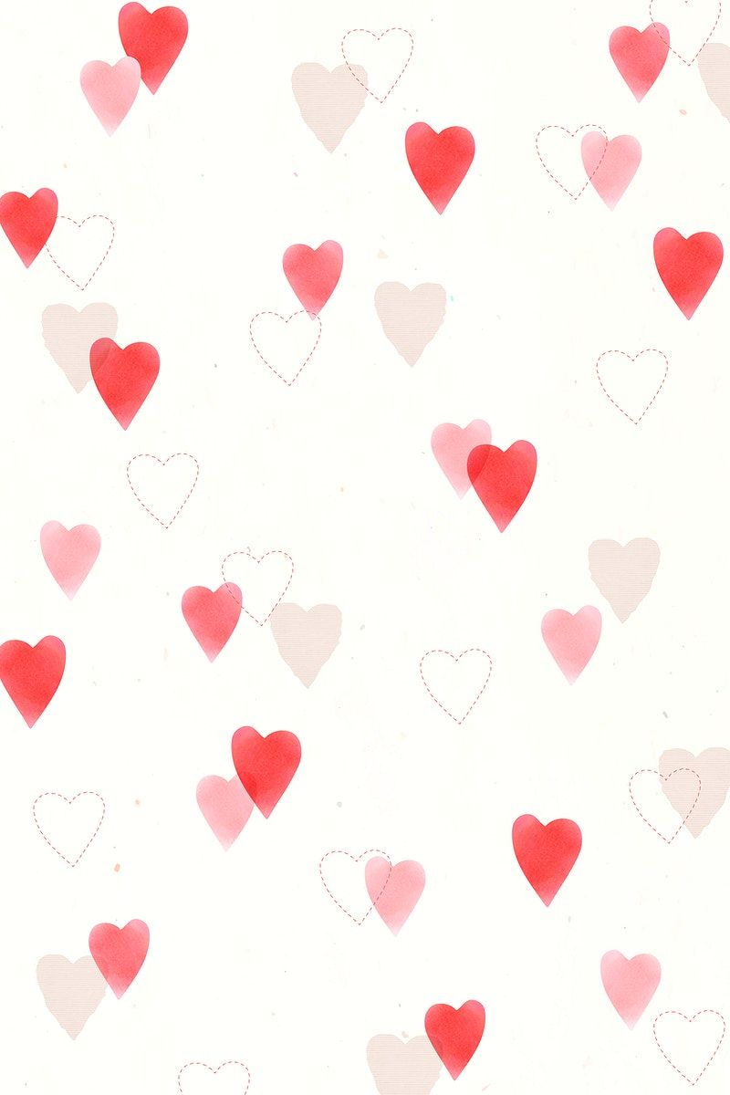 Cute Heart Pattern Vector Background For Valentine S Day Free Image By Rawpixel Com Marinemynt In 2021 Vector Free Free Illustrations Heart Patterns