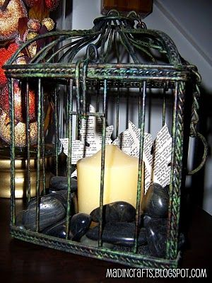 My own bluish patina birdcage