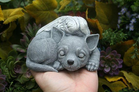 Ordinaire Chihuahua Angel Statue Awake Or Sleeping Dog Memorial