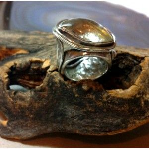 rutilated quartz and sterling silver ring...absolutely stunning