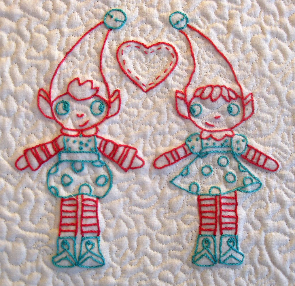 Elf quilted wall hanging detail | by Antípodas