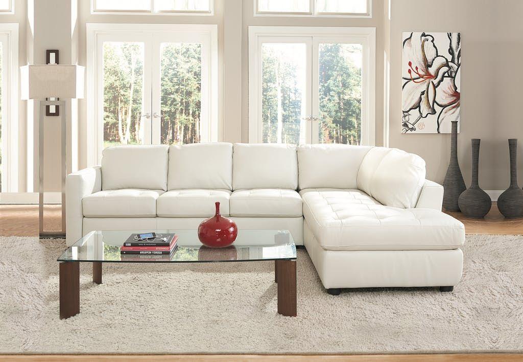 Living Room Denver 2 Piece Leather Sectional Raf Ivory Large Living Room Furniture Living Room Sets Furniture Furniture