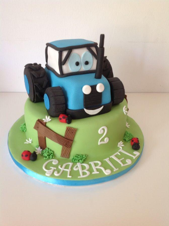 Childrens Birthday Cakes Tractor Cake birthdays Pinterest