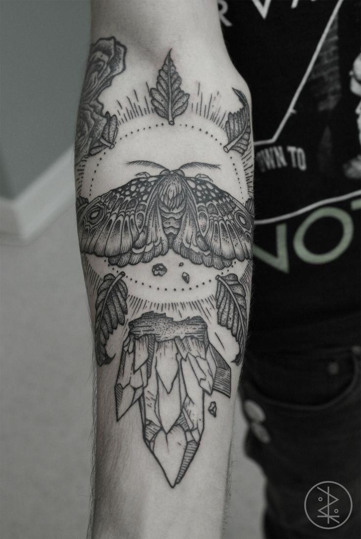 Tattoo ideas black ink okay but dat moth doe  body art  pinterest  moth tattoo and tatting