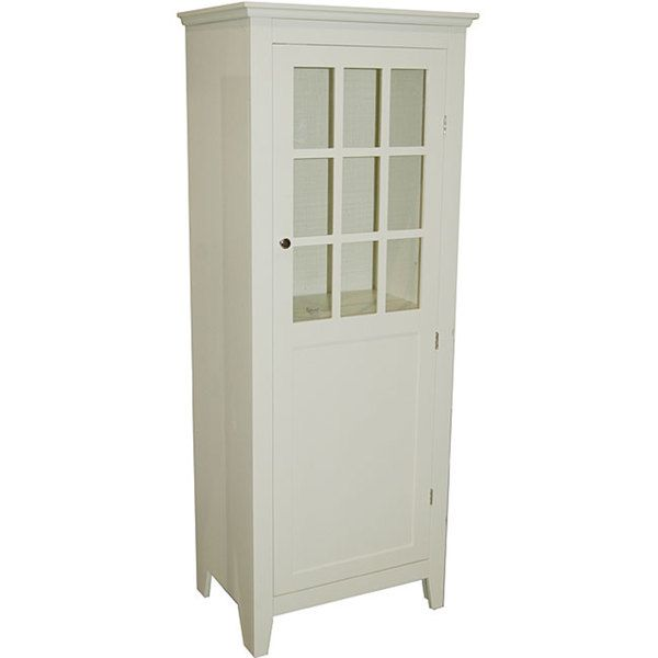 Etonnant Simple Living Antique White Tall Bathroom Linen Cabinet