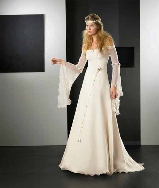 Vestidos de novia estilo edad media