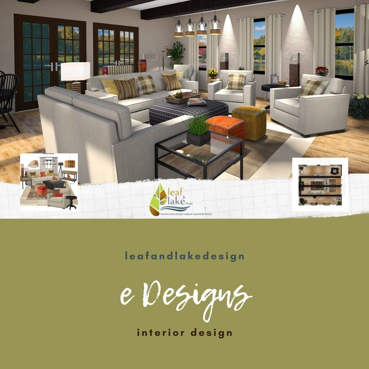 Everything eDesign. Leaf And Lake Design Inspired By Nature! #nature #homedecor #lakehousedecor #mountainhomedecor #coastaldecor #naturedecor #edesign #onlinedesign