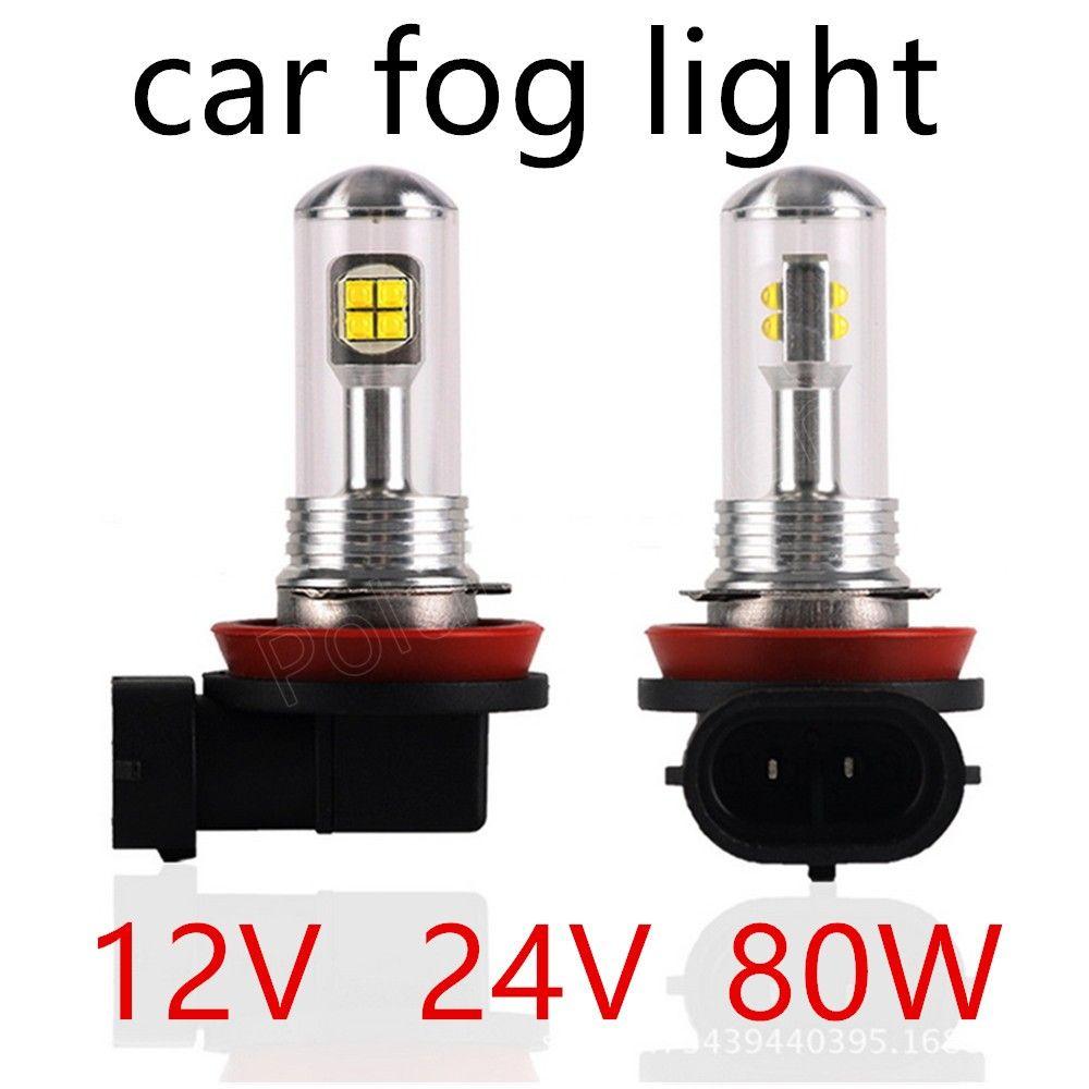 2 Pieces 12v 24v 80w Cars H11 H16 Fog Light Led Headlight Headlamps