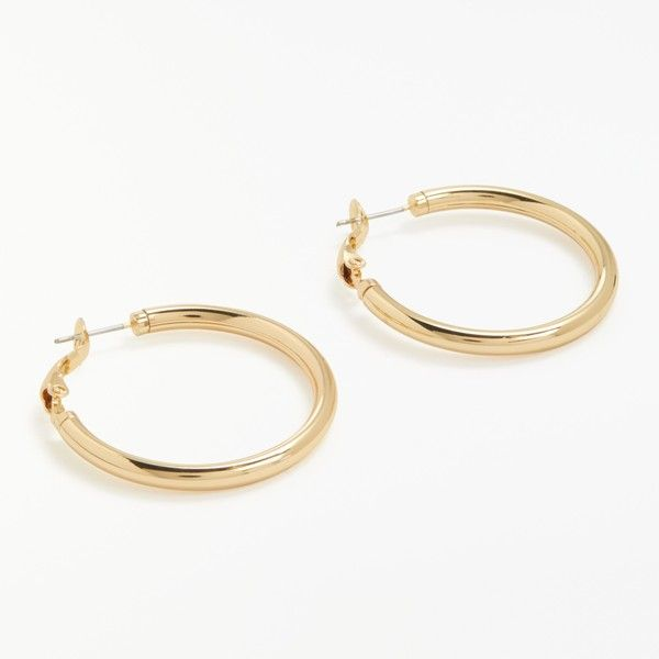 John Lewis Thick Hoop Earrings 11 Liked On Polyvore Featuring Jewelry