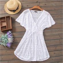9b8283328 Playa túnica verano del traje de baño playa de la blusa salida de ...
