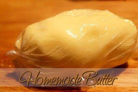 Homemade Butter http://www.momspantrykitchen.com/homemade-butter.html