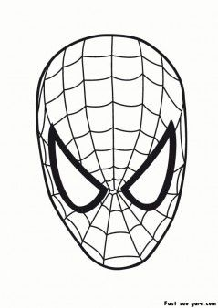 Printable Superheroes Spiderman Maske Coloring Pages Printable